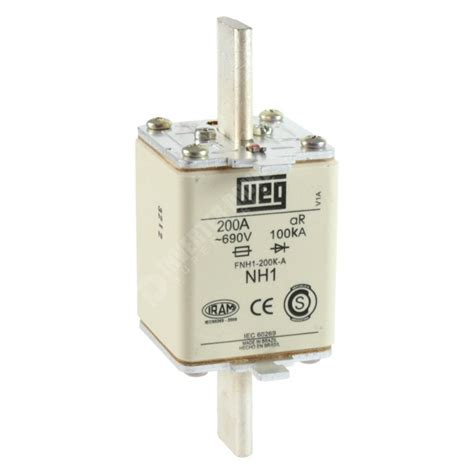 weg 200a high speed nh1 fuse fnh ar fuses for dc drives
