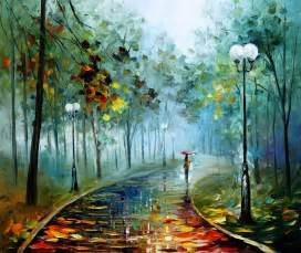 Landscape Artists Work Leonid Afremov On Canvas Palette Knife Buy Original