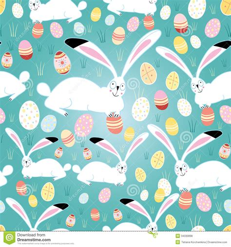 free eastern pattern background texture easter eggs and bunnies royalty free stock photos