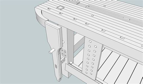 sketchup layout hybrid roubo workbench plans sketchup pdf woodworking