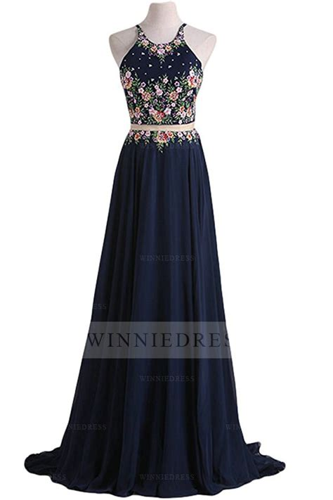 Dress Bunga Pita Navy Topi 1 shop discount stylish a line scoop appliques top satin skirt navy blue two prom dress