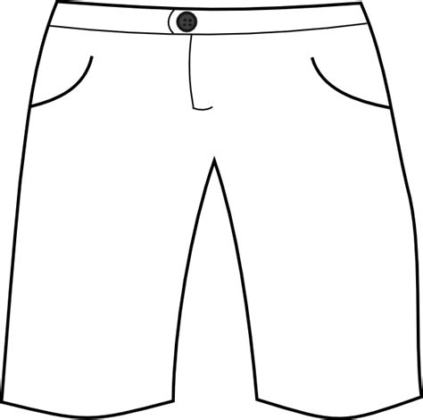 shorts template white shorts clip at clker vector clip