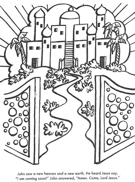 printable heaven images a new heaven and earth use glitter coloring pages
