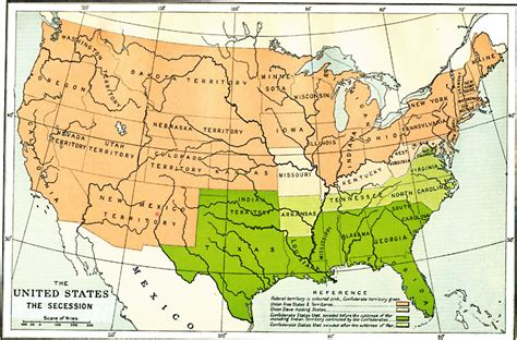 The War Of Secession civil war state secession dates