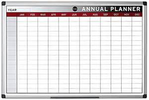 bi office magnetic annual planner 900 x 600mm boards direct