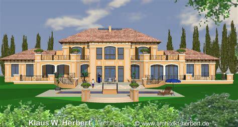 mediterrane architektur klaus w herbert architekt aschaffenburg villa spomer