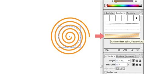 spiral pattern illustrator how to create archimedean arithmetic spiral in adobe