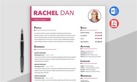 Free Creative Resume Template Doc by Enrich Free Creative Resume Template Doc Maxresumes