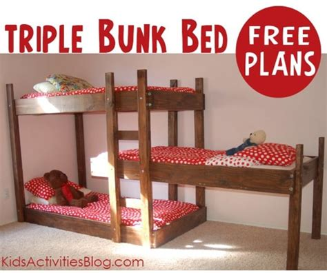 diy twin  twin flat panel bunk bed   separated