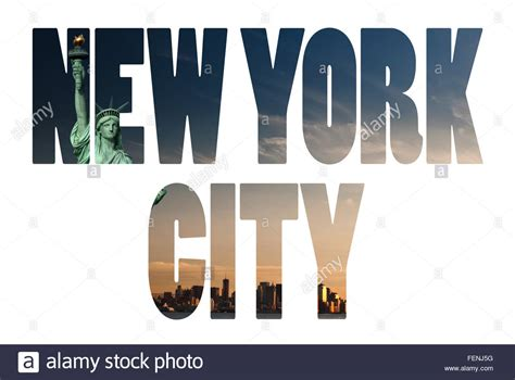 Search By Name And City New York City Name Usa Travel Destination Sign On White Background Stock Photo