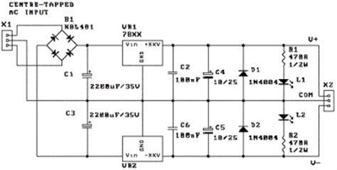 dual power supply circuit diagram constructing your own dual power supply rise circuit