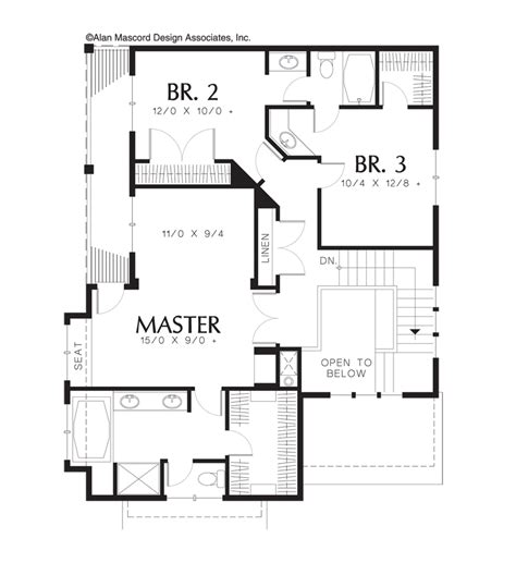 bradford floor plan mascord house plan 22115 the bradford
