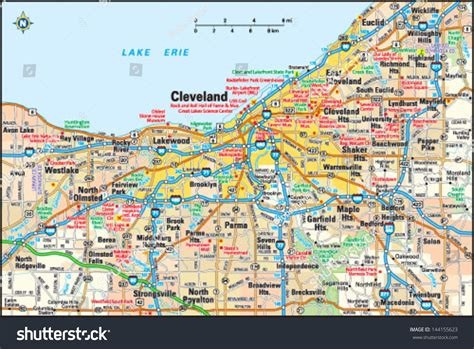 cleveland usa map map of cleveland ohio usa nations project