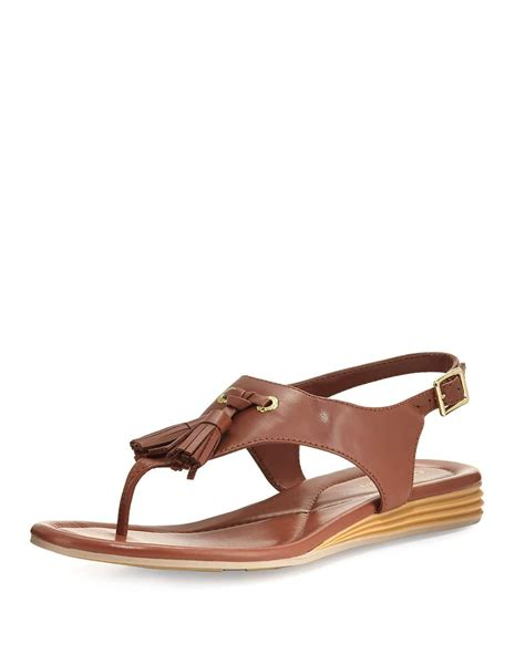 sandals with tassels cole haan rona grand tassel sandal in brown lyst