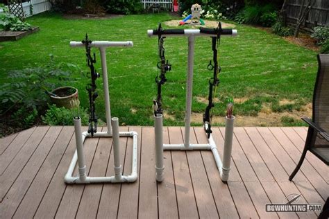 archery bow stand plans how to build a folding pvc bow stand bowhunting