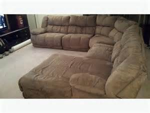 Microsuede Reclining Sofa Microsuede Sectional Reclining Sofa W Chaise