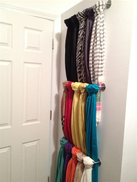 Scarf Racks For Closets by Unusable Wall The Door In Closet Scarf Storage Let S Get Organized