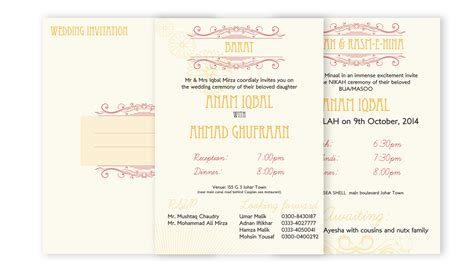 Wedding Card Lahore by Wedding Card Design Portfolio Lahore Graphic Design