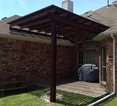 backyard l post single post backyard arbor pergola in frisco hundt