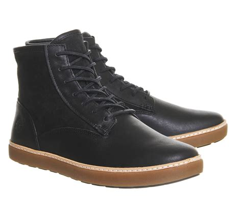 timberland boots black timberland hudston warm lined boots in black for lyst