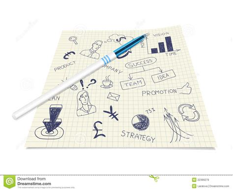 pen doodles vector business ink doodles on paper with pen royalty free stock