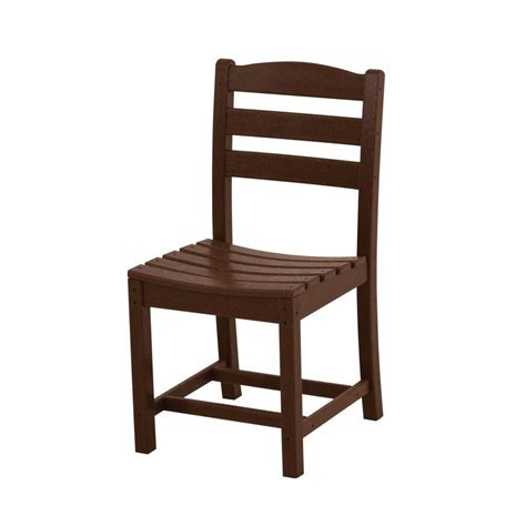 shop polywood la casa cafe 2 count mahogany plastic patio
