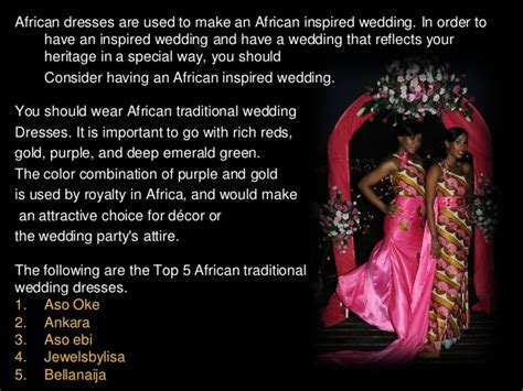 Top 5 African Traditional Wedding Dresses