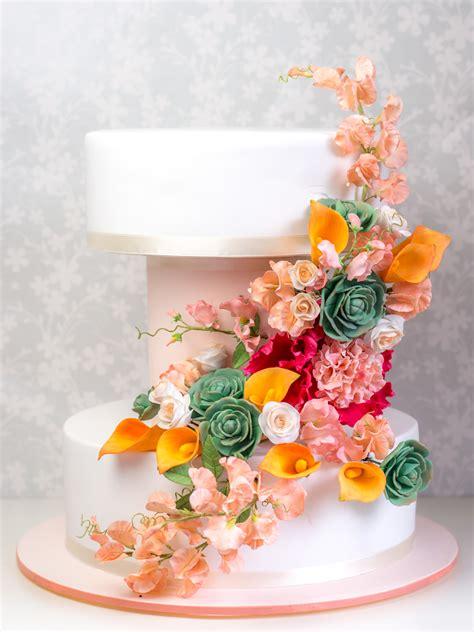 Hochzeitstorte Modern by Moderne Hochzeitstorte Mit Zuckerblumen Ofenkieker