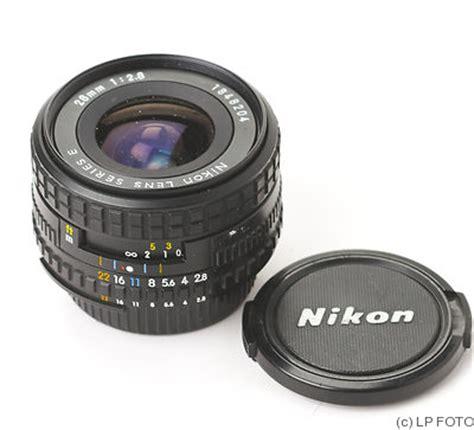 nikon: 28mm (2.8cm) f2.8 series e (ais) lens price guide