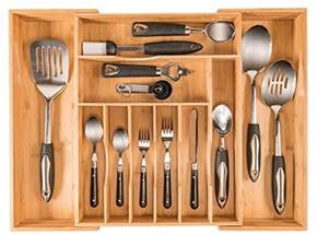 more compartments organic bamboo utensil organizer