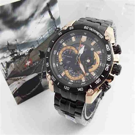 Swiss Army 1128 Kulit Original jual jam tangan swiss navy chronograph steinless original