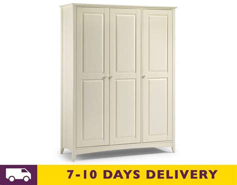 stone white bedroom furniture julian bowen cameo stone white 3 door wardrobe
