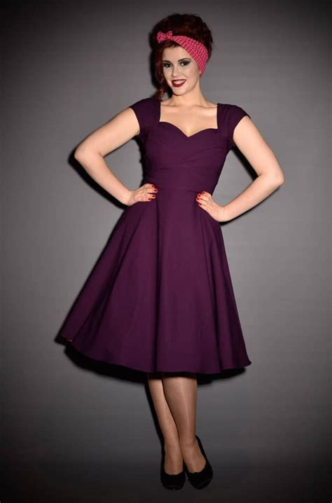 50s swing dress uk 50s aubergine mad men stop staring swing dress at uk