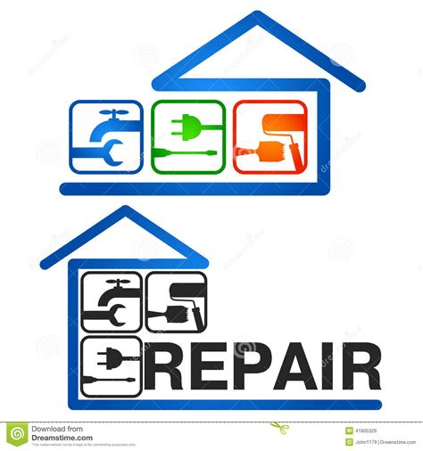 house repairs home repair vector stock vector image 41805329