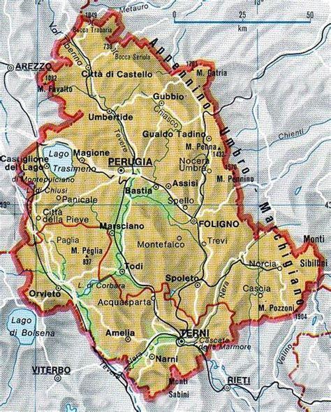 dell umbria mappa dell umbria cartina dell umbria