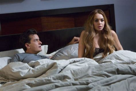 Lindsay Lohans A Firecracker In Bed by Lindsay Lohan And Sheen In Bed In