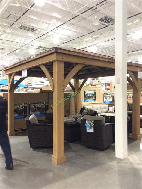 12 x 15 gazebo 12 x 14 cedar gazebo with aluminum roof costcochaser