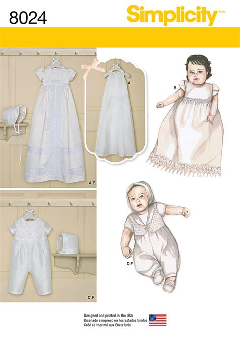 pattern review best of 2015 simplicity 8024 babies christening sets with bonnets