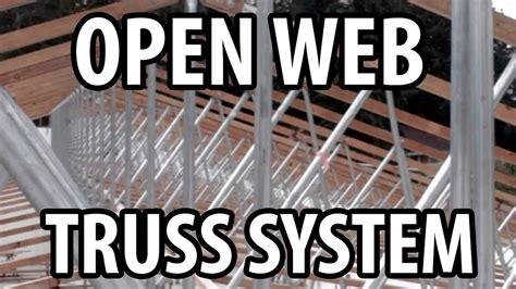 open web open web truss design on modern office building