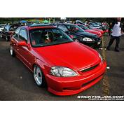 Red EK Honda Civic Si Coupe On 16″ Silver BBS RS  Zone