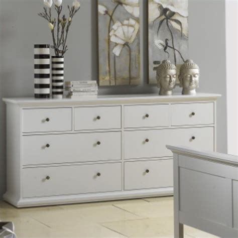 8 drawer double dresser tvilum sonoma 8 drawer double dresser in white 7030749