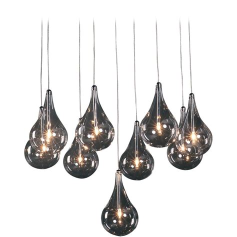 Multi Glass Pendant Lights Modern Low Voltage Multi Light Pendant Light With Clear Glass And 9 Lights E20115 18