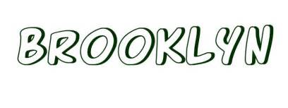 coloring page first name brooklyn