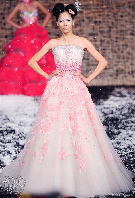 pink designer wedding dresses michael cinco wedding gowns 2010 wedding inspirasi