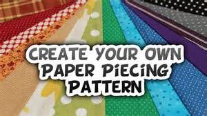 Design Your Creating Your Own Paper Piecing Design How To