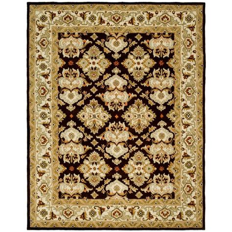 6 X9 Area Rugs Safavieh Heritage Espresso Ivory 7 Ft 6 In X 9 Ft 6 In Area Rug Hg817b 8 The Home Depot