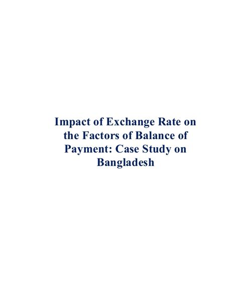Mba Projects Work Balance by Mba Project Report On Impact Of Exchange Rate On Balance