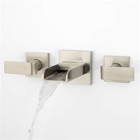 maleko wall mount waterfall tub faucet bathroom henson hand glazed vessel sink teal wall mount