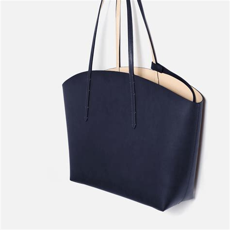 New Zara Tote zara tote bag in blue lyst