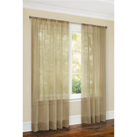 canopy sheer curtains canopy sheer crushed voile window panel decor walmart com
